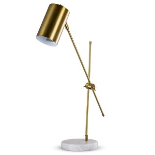"Metal 23"" Adjustable Gold DeskTask Lamp"