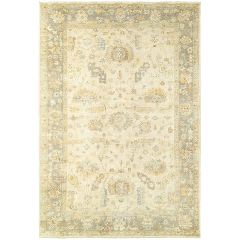 Tommy Bahama Palace Vintage Inspired Hand Knotted Wool Area Rug