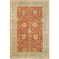 Tommy Bahama Palace Red/Grey Wool Area Rug (6' x 9') - 6' x 9'