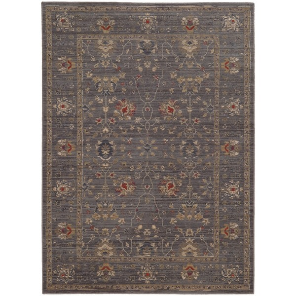 Tommy Bahama Vintage Blue Gold Wool Area Rug 6 X27 7 X