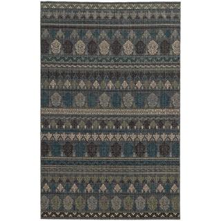 Tommy Bahama Vintage Blue Wool Area Rug (5'3 x 7'6)