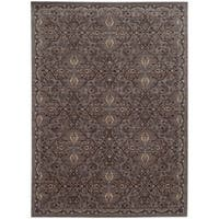 Tommy Bahama Vintage Brown/ Blue Wool Area Rug (5'3x7'6)