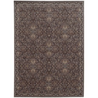 Tommy Bahama Vintage Brown/ Blue Wool Area Rug (5'3x7'6)