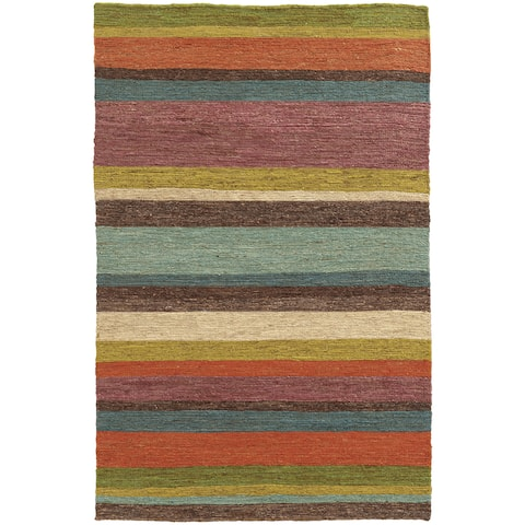 Tommy Bahama Valencia Multicolor Hand-woven Jute Area Rug - 5' x 8'