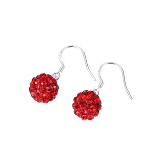 Hakbaho Jewelry Dark Red Cubic Zircon Crystal Drop Earrings