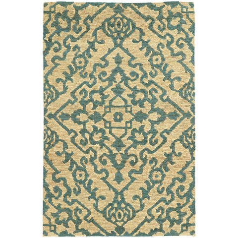 Tommy Bahama Valencia Hand-woven Jute Floral Area Rug