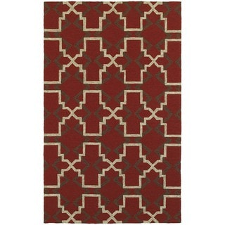Tommy Bahama Atrium Red/ Brown Area Rug (5'x8')