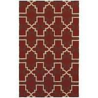 Tommy Bahama Atrium Red/ Brown Area Rug - 5'x8'