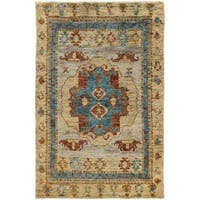 Tommy Bahama Ansley Beige/Blue Jute Area Rug (5' x 8') - 5' x 8'