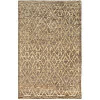 Tommy Bahama Ansley Taupe/Beige Jute Area Rug (5' x 8') - 5' x 8'