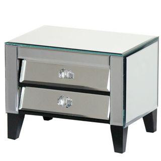Elegant Mirror Jewelry Box Cabinet - Benzara