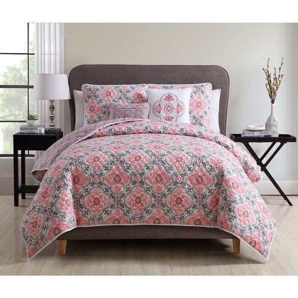 VCNY Home 2-in-1 Winstead 5-piece Reversible Quilted Duvet Cover Set