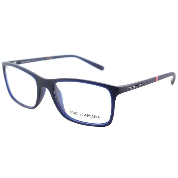 ac2a093210b0 Dolce  amp  Gabbana Rectangle DG 5004 2981 Unisex Opal Blue Rubber Frame  Eyeglasses - 55mm