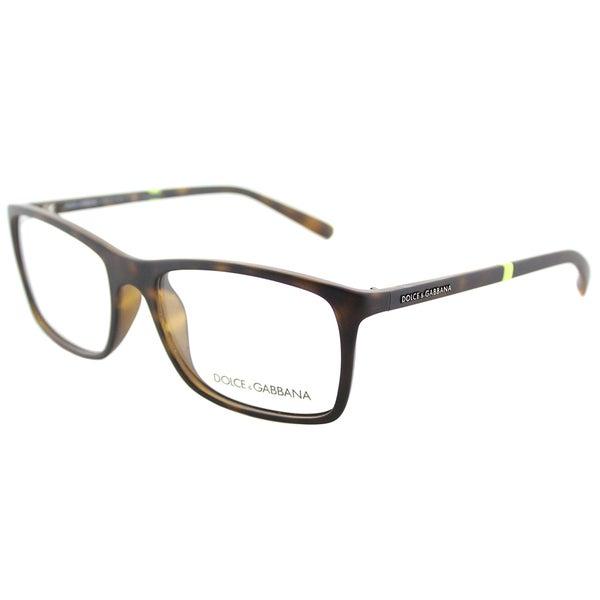 c2d2673cbf Dolce  amp  Gabbana Rectangle DG 5004 2980 Unisex Havana Rubber Frame  Eyeglasses ...