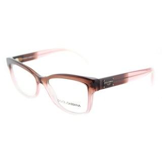 Dolce & Gabbana Rectangle DG 3254 3060 Unisex Bordeaux Grad Powder Pink Frame Eyeglasses 54 mm