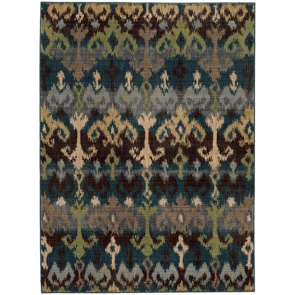 Tommy Bahama Blue Wool Area Rug 6 X27 7x9