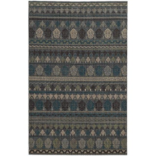 Tommy Bahama Blue Wool Area Rug (6'7x9'6)