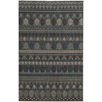 Tommy Bahama Blue Wool Area Rug - 6'7x9'6