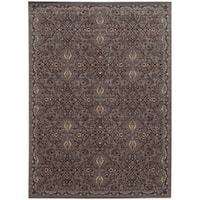 Tommy Bahama Vintage Brown/ Blue Wool Area Rug - 6'7x9'6