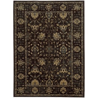 Tommy Bahama Vintage Charcoal/Blue Wool Area Rug (6'7 x 9'6)