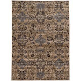 Tommy Bahama Vintage Beige/Blue Wool Area Rug (6'7 x 9'6)
