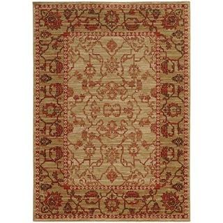 Tommy Bahama Vintage Beige/Red Wool Area Rug (6'7 x 9'6)