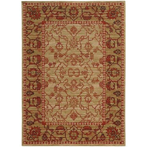 "Tommy Bahama Vintage Traditonal Wool Area Rug - 6'7"" x 9'6"""