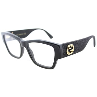 Gucci GG 0104O 001 Black Plastic Rectangle Eyeglasses 51mm