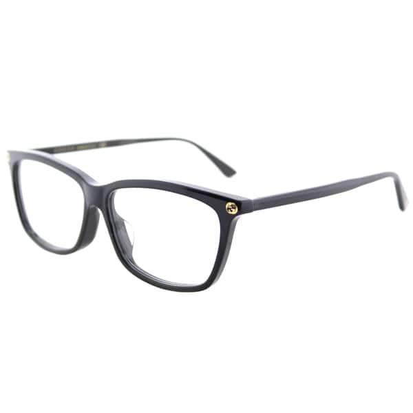 501c1d33b3d Shop Gucci GG 0042OA 001 Asian Fit Black Plastic Cat-Eye Eyeglasses ...
