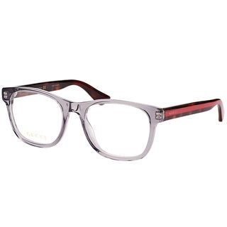 Gucci GG 0004O 004 Transparent Light Grey Plastic Square Eyeglasses 53mm