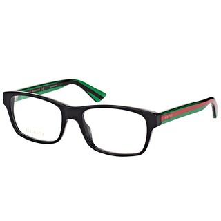 Gucci GG 0006O 006 Black Plastic Rectangle Eyeglasses 55mm