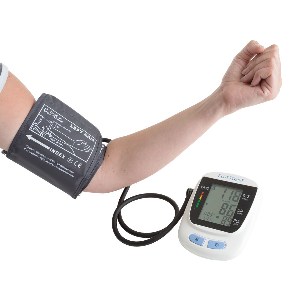 Bluestone Automatic Upper Arm Blood Pressure Monitor with Cuff LCD Display