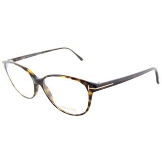 Tom Ford FT 5421 052 Soft Cat-Eye Dark Havana Plastic Cat-Eye Eyeglasses 53mm