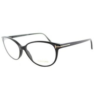 Tom Ford FT 5421 001 Soft Cat-Eye Black Plastic Cat-Eye Eyeglasses 55mm