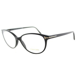 Tom Ford FT 5421 001 Soft Cat-Eye Black Plastic Cat-Eye Eyeglasses 55mm