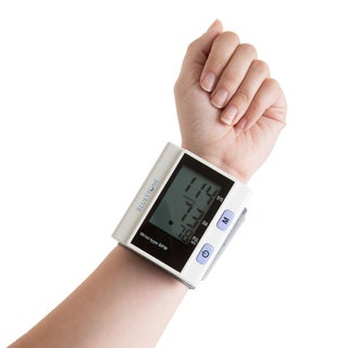 Automatic Wrist Blood Pressure Monitor LCD Display- Fast BP and Pulse Monitoring and Adjustable Wrist Cuff by Bluestone