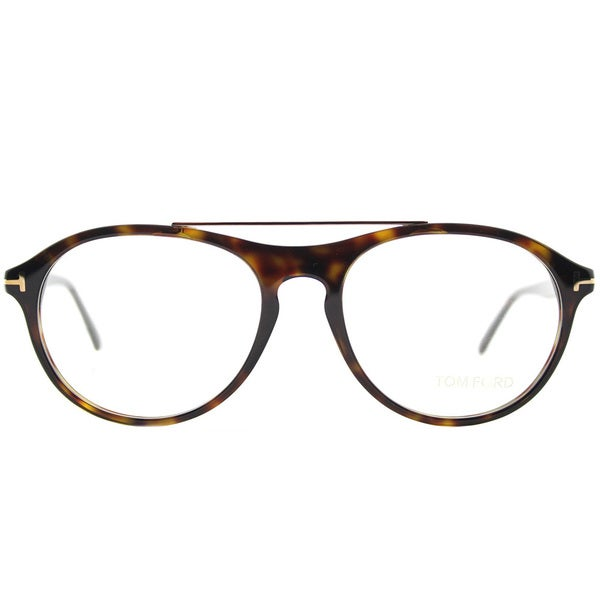 994200a21c50b Shop Tom Ford FT 5411 052 Dark Havana Plastic Oval Eyeglasses 53mm ...