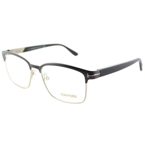 f4cf4b0eb7ca2 Tom Ford FT 5323 048 Dark Brown And Gold Metal Square Eyeglasses 54mm
