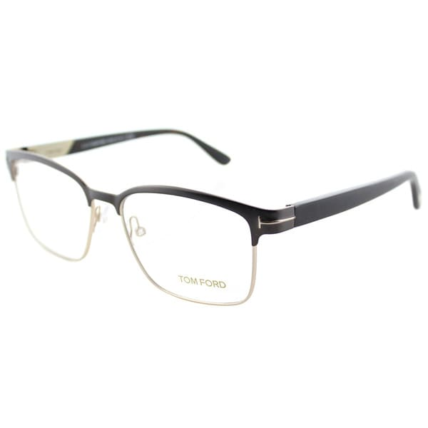 86f5a85f1789 Tom Ford FT 5323 048 Dark Brown And Gold Metal Square Eyeglasses 54mm