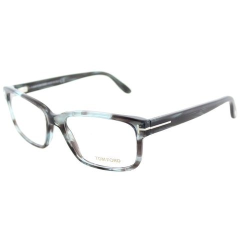 Tom Ford FT 5313 086 Melange Grey Plastic Square Eyeglasses 55mm