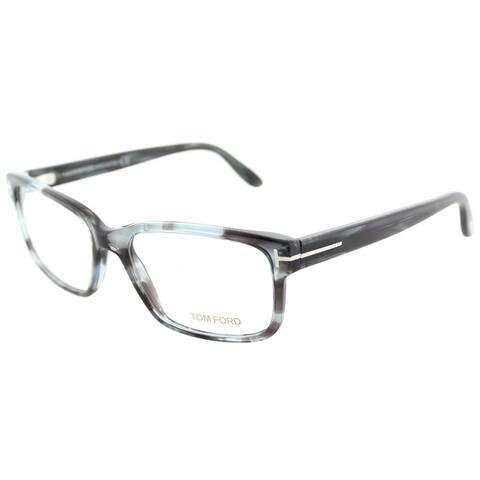 Tom Ford FT 5313 086 Melange Grey Plastic Square Eyeglasses 55mm