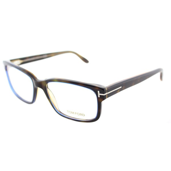 b1d8550e5af8 Shop Tom Ford FT 5313 055 Dark Havana Plastic Square Eyeglasses 55mm ...