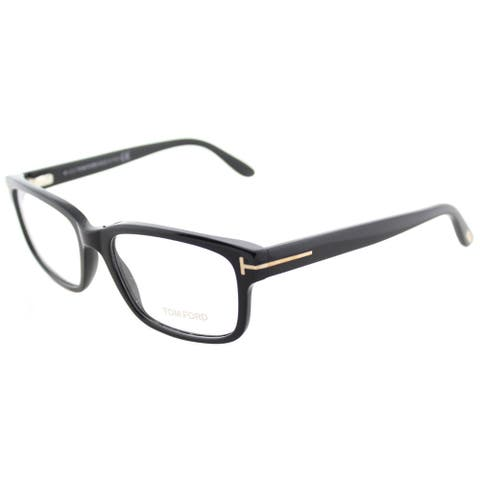 9fb57c6d552d Tom Ford FT 5313 001 Black Plastic Square Eyeglasses 55mm