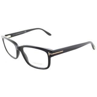 Tom Ford FT 5313 001 Black Plastic Square Eyeglasses 55mm