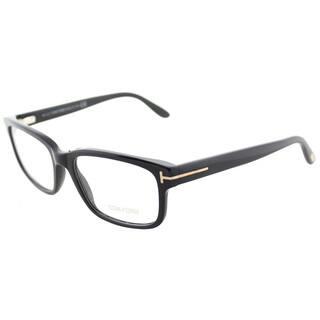 b2652d1f934 Tom Ford FT 5313 001 Black Plastic Square Eyeglasses 55mm