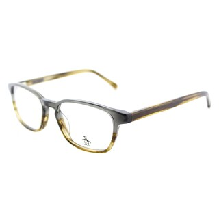 Original Penguin The Take A Mulligan GR Mirage Grey Plastic Rectangle Eyeglasses 49mm