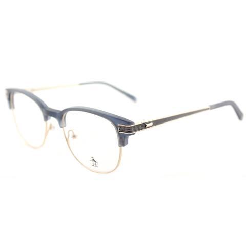 Original Penguin The Princeton DN Dark Denim Plastic Square Eyeglasses 50mm
