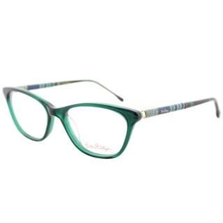 Lilly Pulitzer Sanford MO/TO Moss Tortoise Plastic Cat-Eye Eyeglasses 51mm