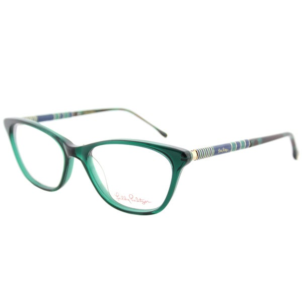 d63987c02c5 Lilly Pulitzer Sanford MO TO Moss Tortoise Plastic Cat-Eye Eyeglasses 49mm