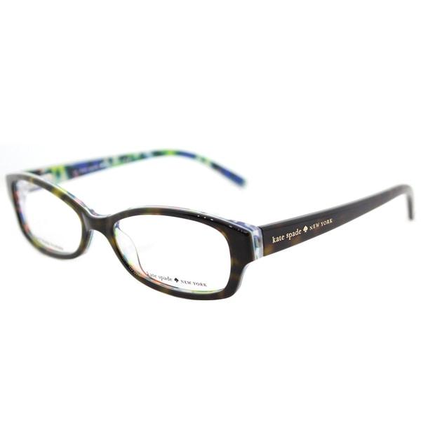 c6981e8630f1 Kate Spade KS Sheba X68 Tortoise Floral Plastic Rectangle Eyeglasses 51mm